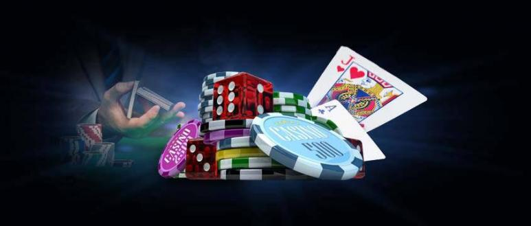 cards, dice, and casino chips